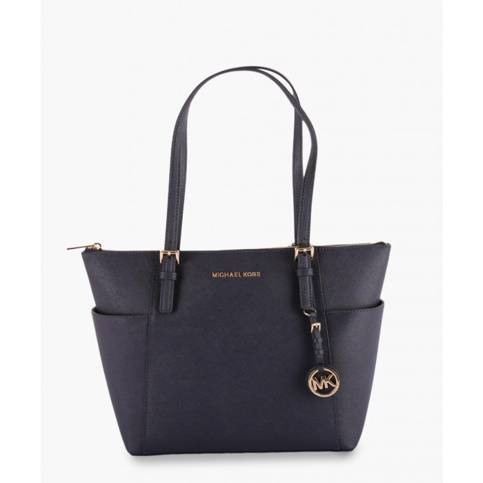 Image for Jet Set admiral blue leather shopper