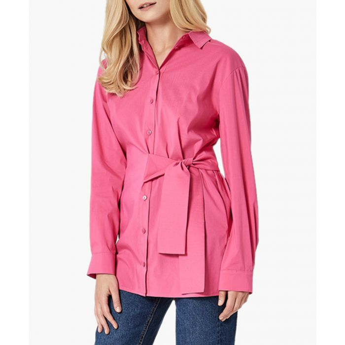 Image for Pink woven shirt