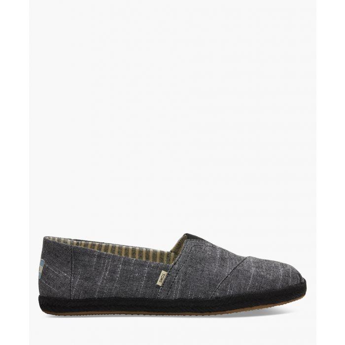 Image for Alpargata black canvas shoes
