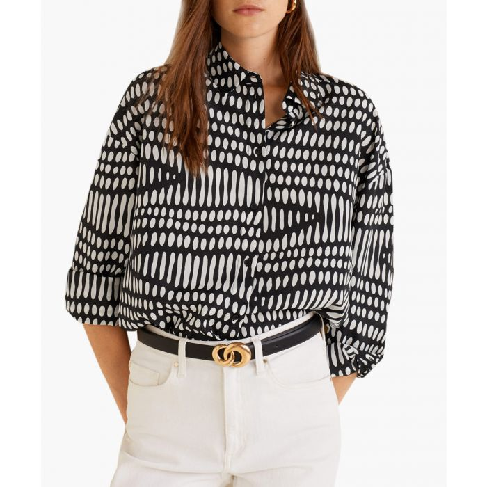 Image for White geometric print shirt