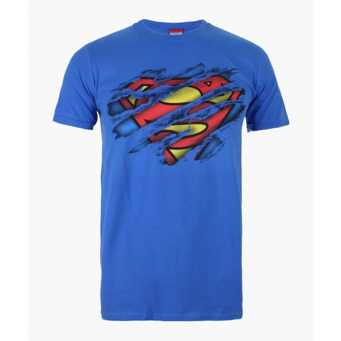 Image for Superman Torn royal blue cotton T-shirt