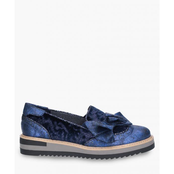 Image for Joanne blue slip-on shoes