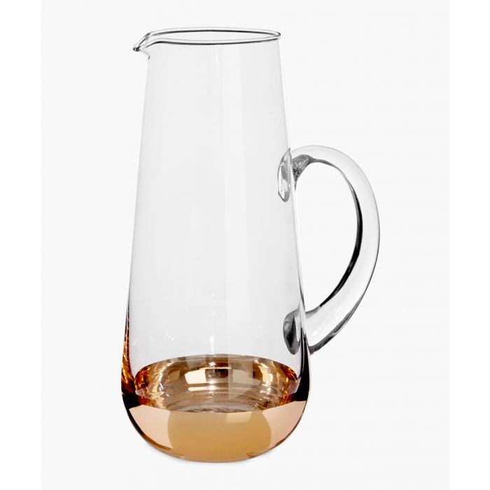 Image for Horizon gold-tone glass pitcher