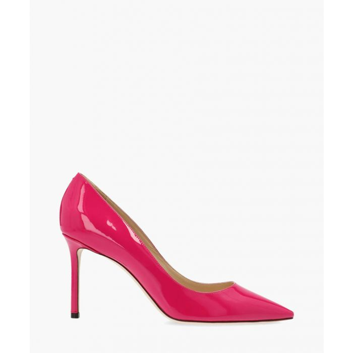 Image for Romy 85 fuchsia leather pumps