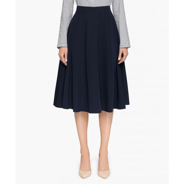 Image for Navy blue midi skirt