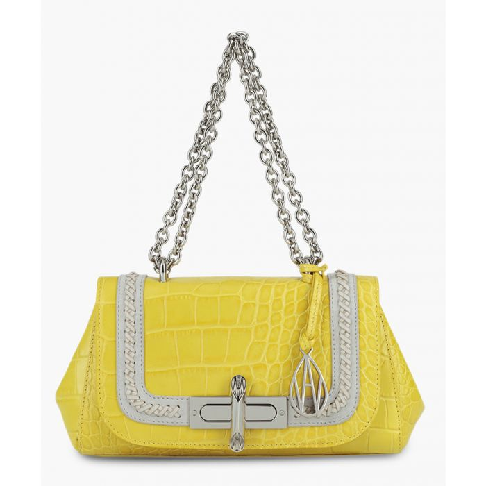 Image for Baguette Redmayne yellow leather shoulder bag