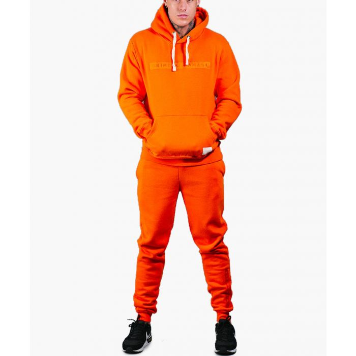 Image for Orange cotton blend joggers