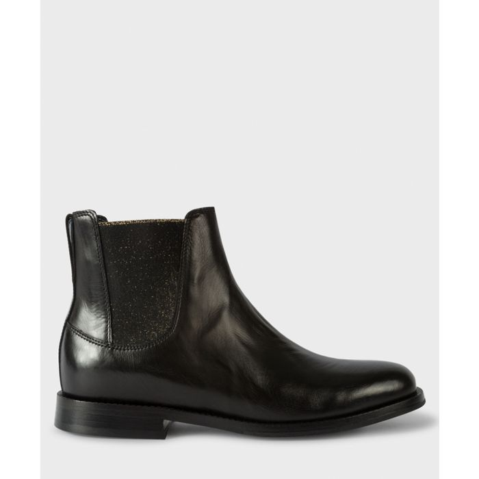 Image for Black leather Chelsea ankle boots