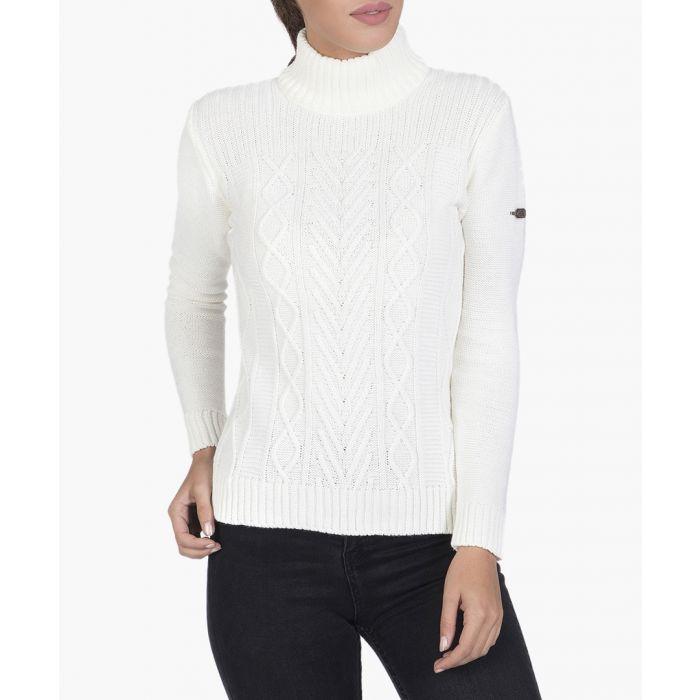 Image for Ecru wool-blend jumper