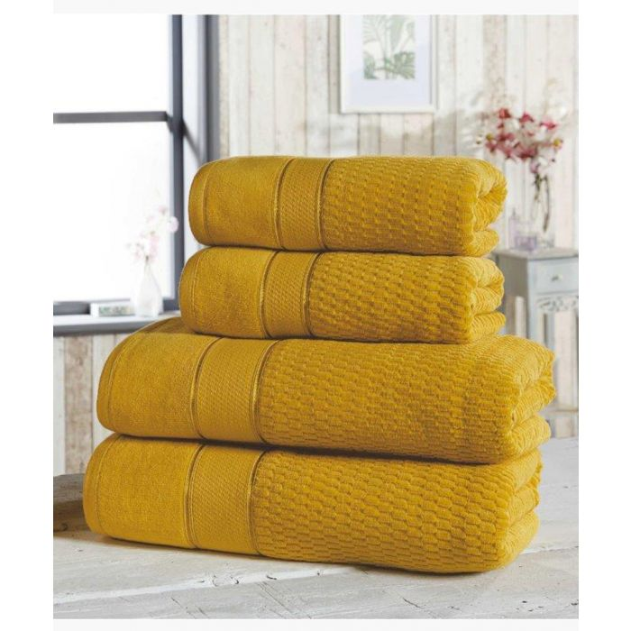 Image for 4pc ochre cotton towels