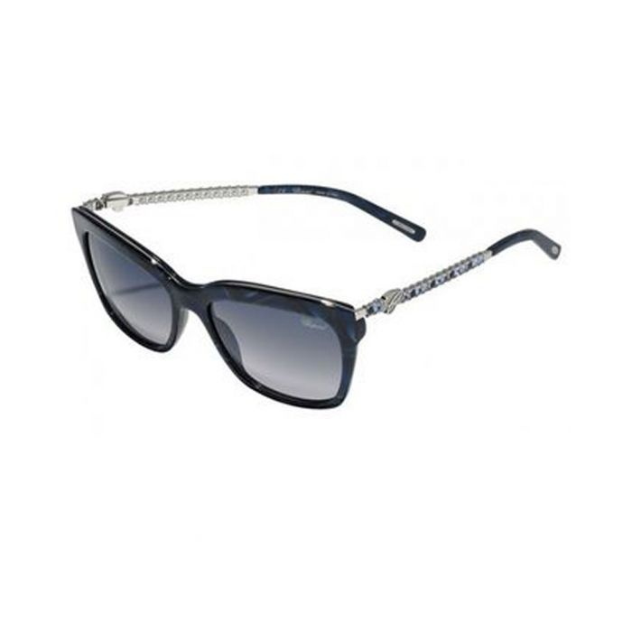 Image for Silver-tone & blue marble sunglasses