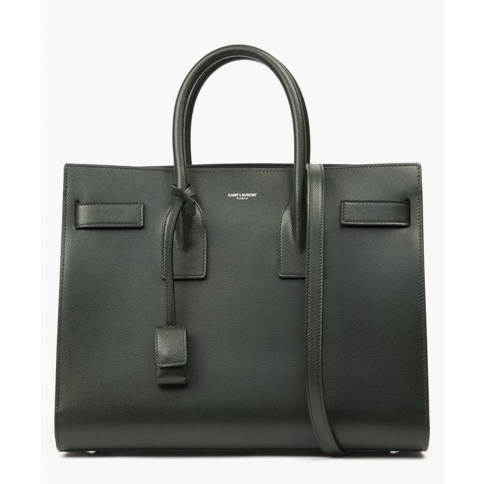 Image for Sac de Jour small green leather bag