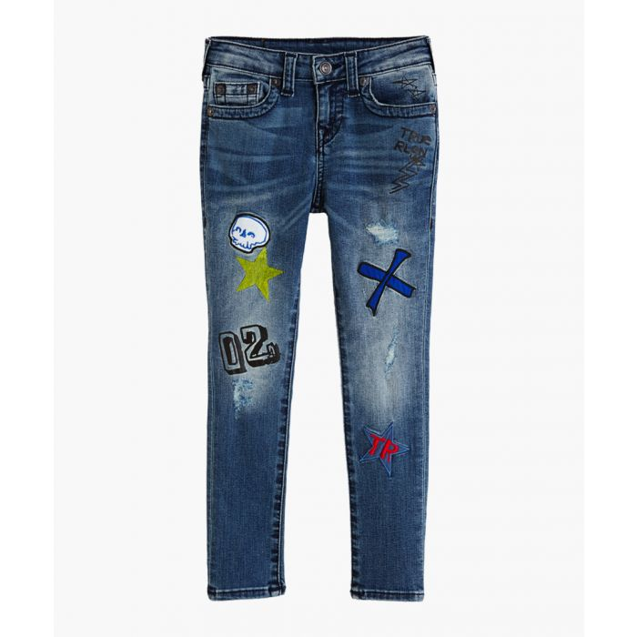 Image for Boys Tony blue cotton blend jeans