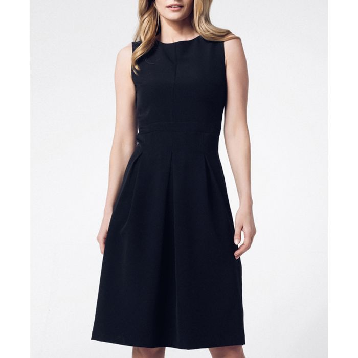 Image for Black fitted sleeveless midi dress