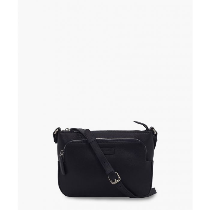 Image for Blue leather crossbody