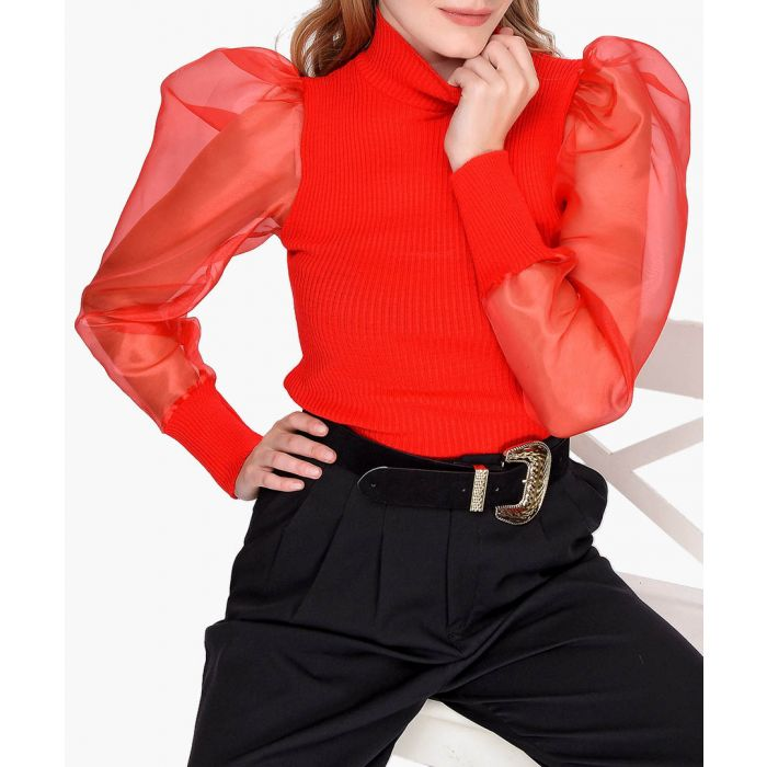 Image for Red pure cotton jumper