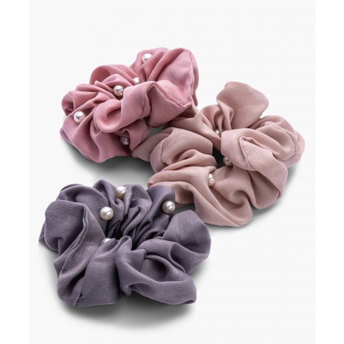 Image for 3pc pearl hair scrunchies