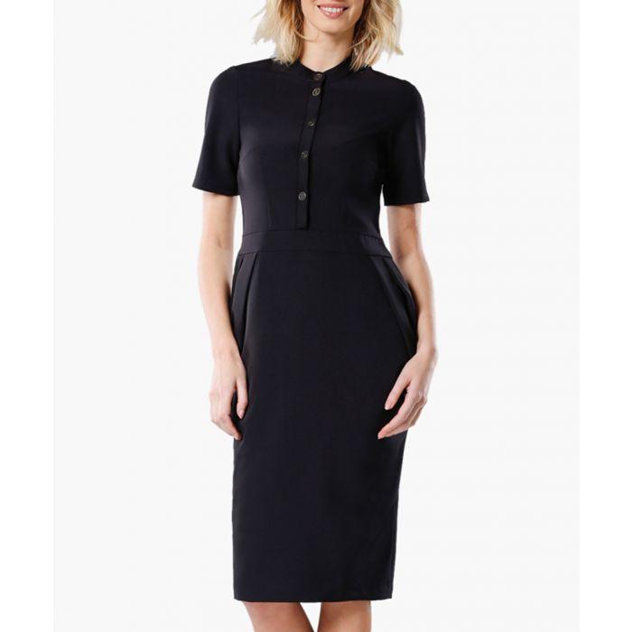 Image for Black woven dress