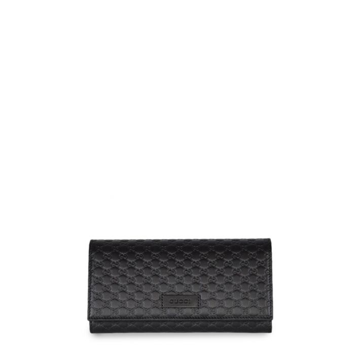 Image for Black Microguccissima continental flap wallet