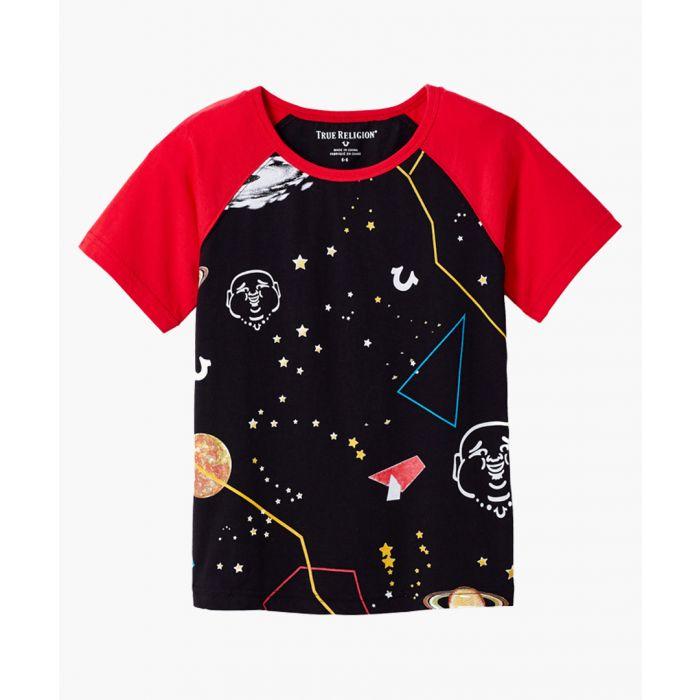 Image for Boys black cotton space T-shirt