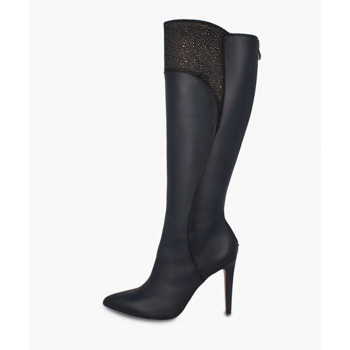 Image for Dark grey knee-high boots
