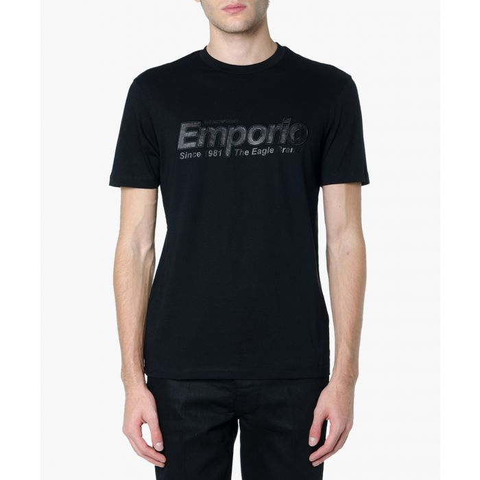 Image for Black cotton logo script T-shirt