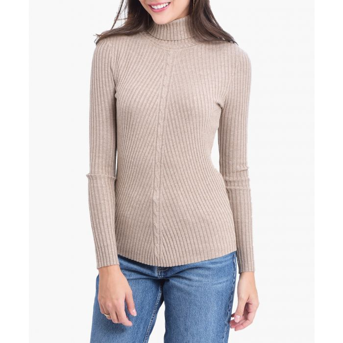 Image for Camel coloured cashmere blend jumper