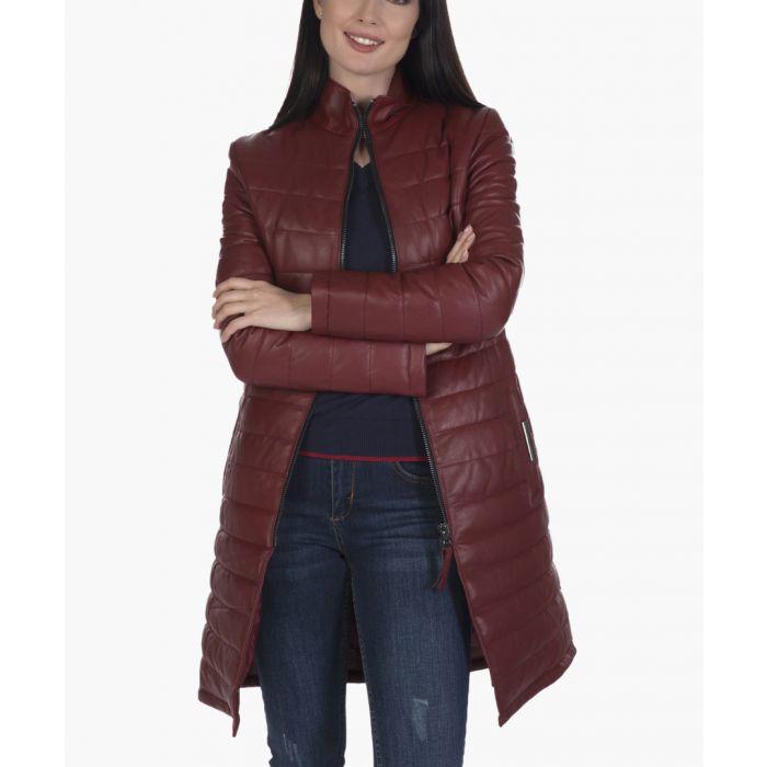 Image for Bordeaux leather jacket