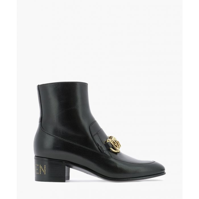 Image for Horsebit Chain leather loafer boots