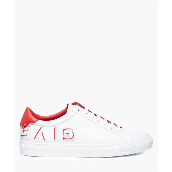Image for White reverse leather trainers