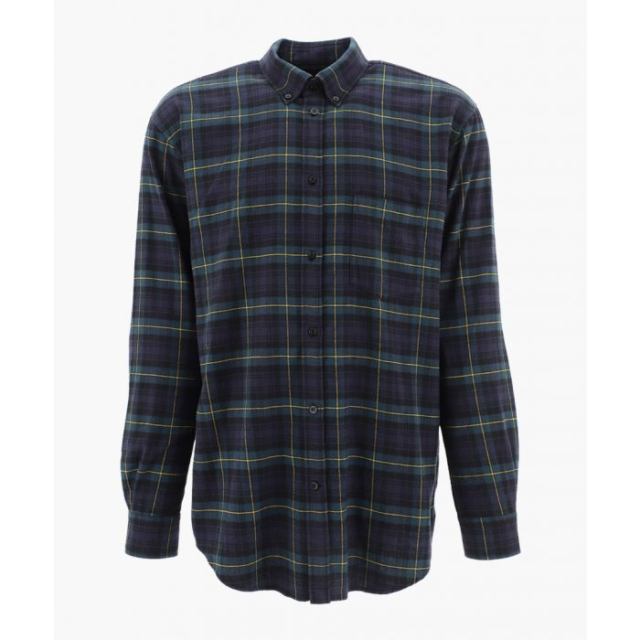 Image for Multi-coloured cotton checked oversized shirt