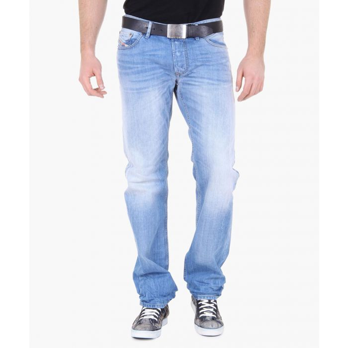Image for Light blue denim washed-out jeans