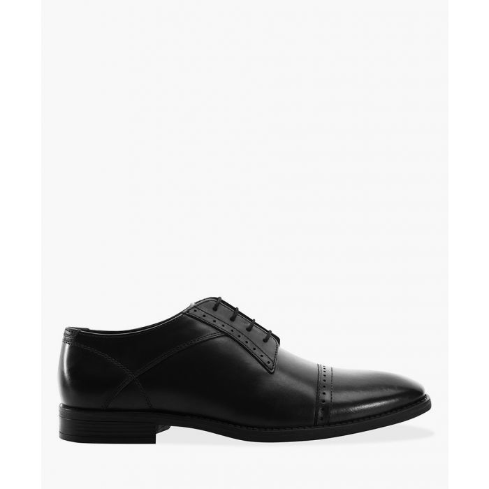Image for Black toe cap Derby shoes