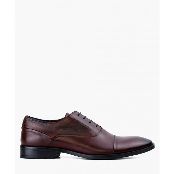 Image for Burgundy leather Oxford shoes