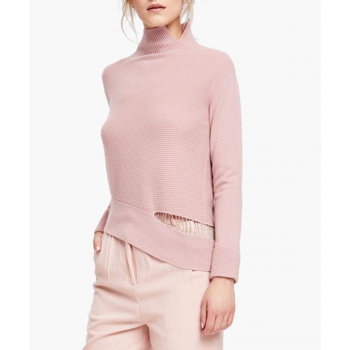 Image for Blush pure cashmere rollneck jumper