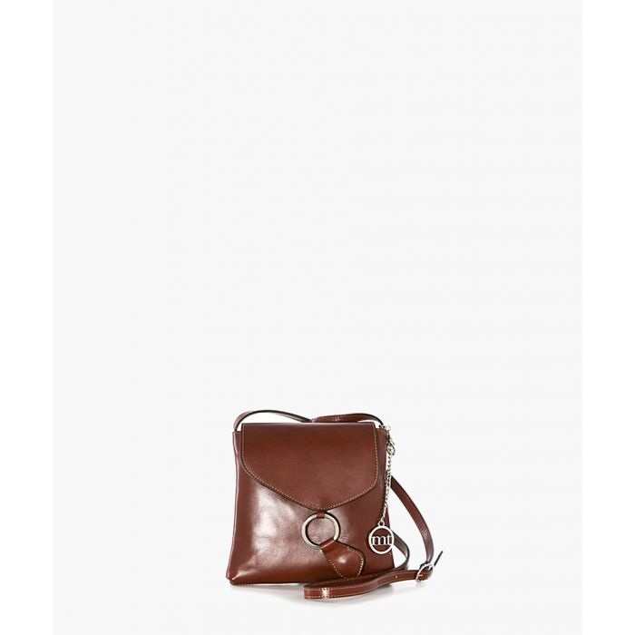 Image for Ortica brown leather cross body