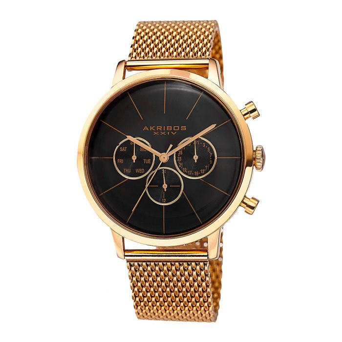 Image for Gold-tone mesh strap chronograph watch
