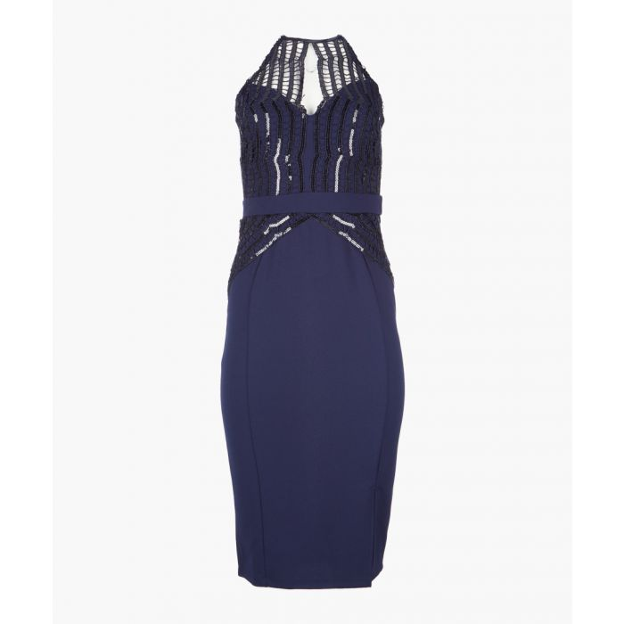 Image for Navy sequin dress