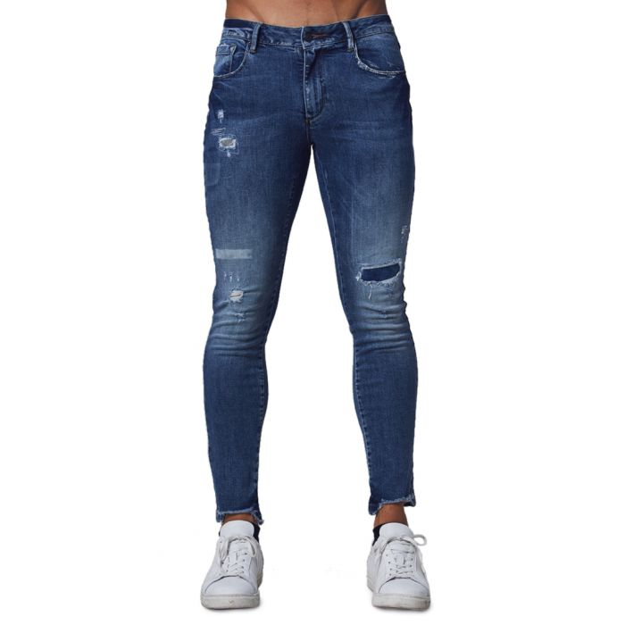 Image for Blue cotton blend jeans