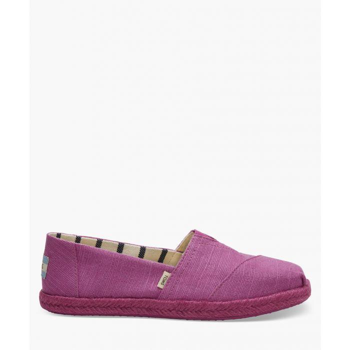 Image for Alpargata purple canvas shoes