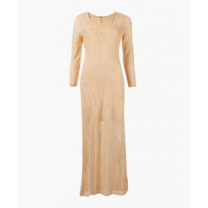 Image for It's like this neutral v-neck maxi dress