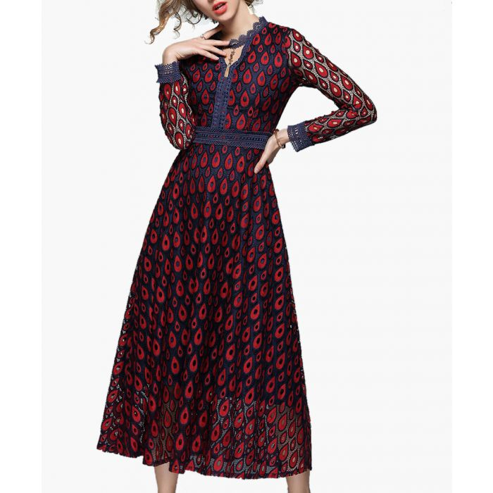 Image for Wine print maxi dress