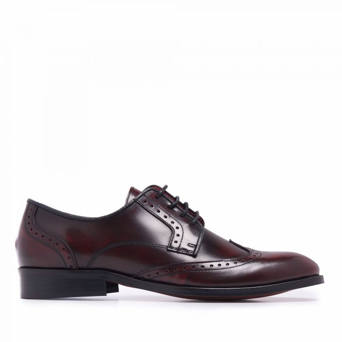 Image for Mens burgundy leather blucher shoes