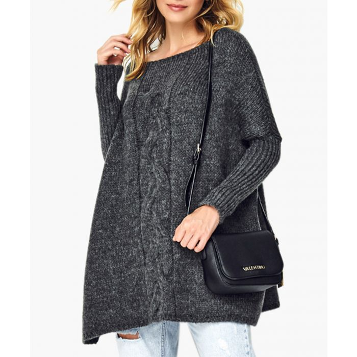 Image for Graphite melange wool blend knitted sweater
