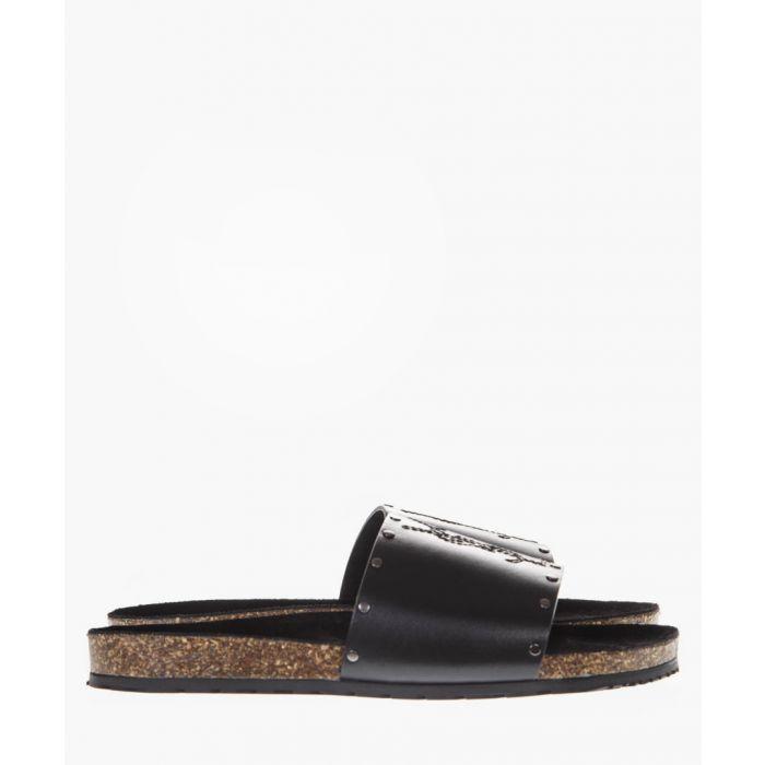 Image for Jimmy black leather stud sandals