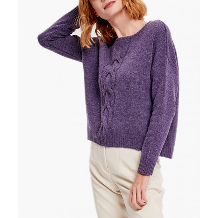 Image for Purple cashmere and wool blend jumper