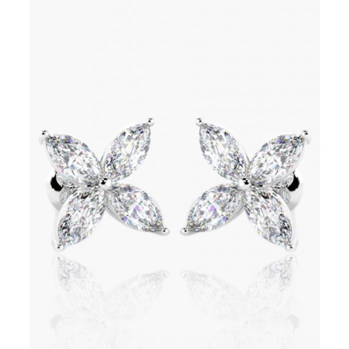 Image for 18k white gold and 0.40ct marquise-cut diamond earrings