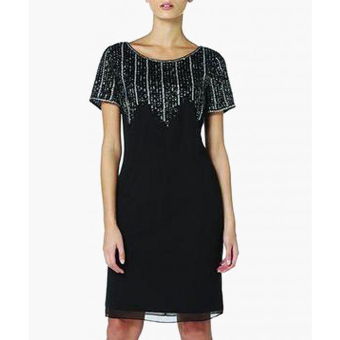 Image for Black Sequin Knee-Length Dress