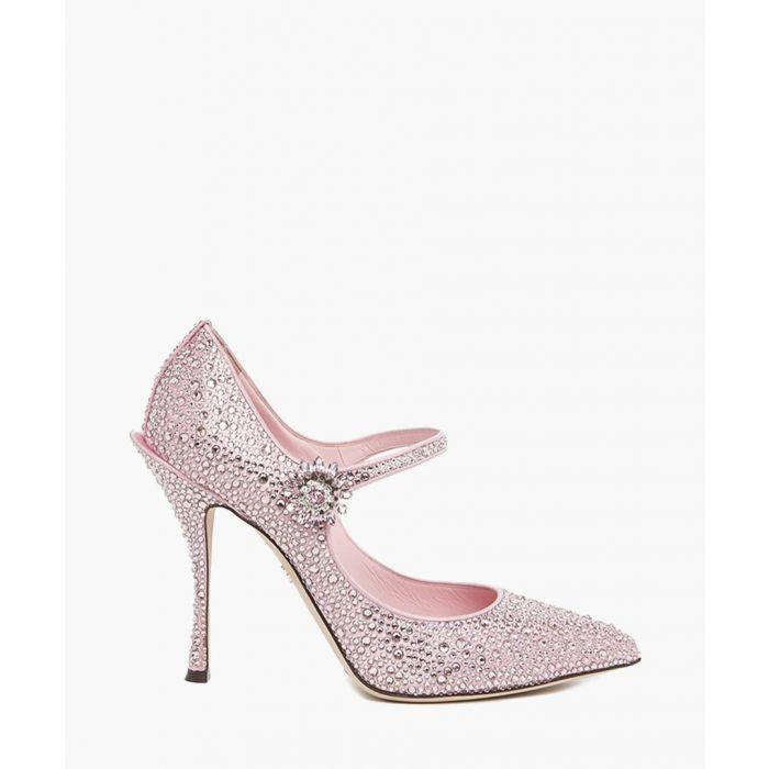 Image for Lori pink satin embellished Mary Jane pumps