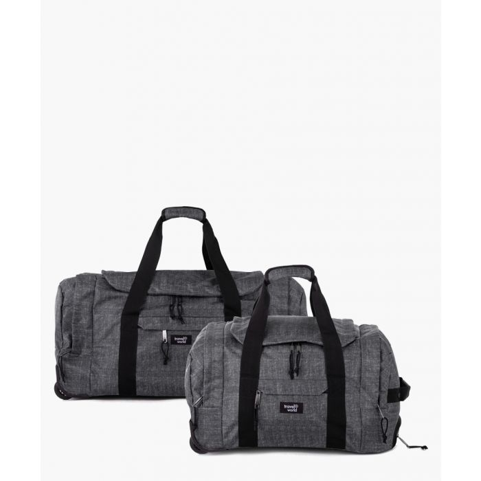 Image for 2pc black luggage set